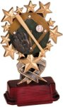 Baseball - Starburst Resin Trophy Baseball Trophy Awards