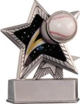 Baseball - Silver Star Motion Resin Series Baseball Trophy Awards