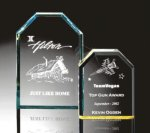 Beveled Clipped Corner Plaque Colored Acrylic Awards