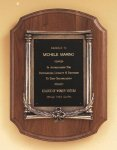 American Walnut Plaque with an Antique Bronze Casting Recognition Plaques