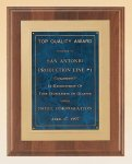 American Walnut Plaque with Gold Embossed Frame Recognition Plaques