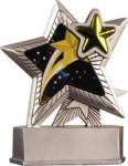 Star - Silver Star Motion Series Resin Silver Star Motion Resin Trophy Awards
