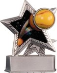 Softball - Silver Star Motion Series Resin Silver Star Motion Resin Trophy Awards