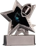Football - Silver Star Motion Series Resin Silver Star Motion Resin Trophy Awards