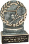 Tennis - Wreath Resin Trophy Tennis Trophy Awards
