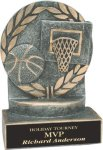 Basketball - Wreath Resin Trophy Wreath Resin Trophy Awards